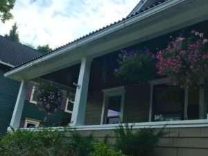 petunias porch